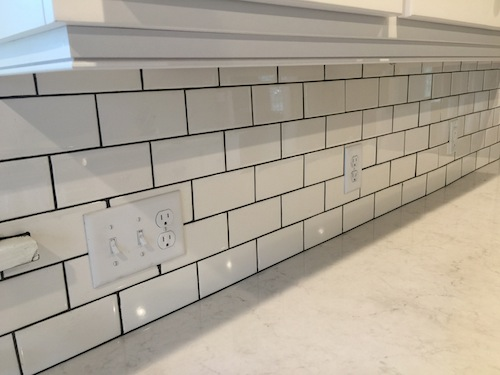 Daltile White Subway Tile Polyblend Non Sanded Grout In Charcoal Prolite And Stone Mortar